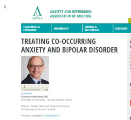 Image of podcast web page on Anxiety and Depression Association of America website